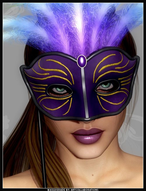 Masquerade Masks by: ARTCollaborations, 3D Models by Daz 3D
