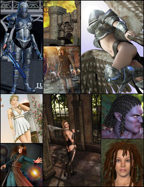 Fantasy Starter Bundle by: , 3D Models by Daz 3D