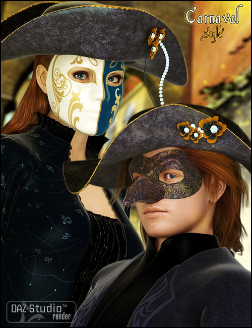 Carnaval Style by: Nathy, 3D Models by Daz 3D