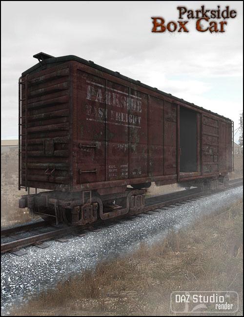 Parkside Box Car by: Jack Tomalin, 3D Models by Daz 3D