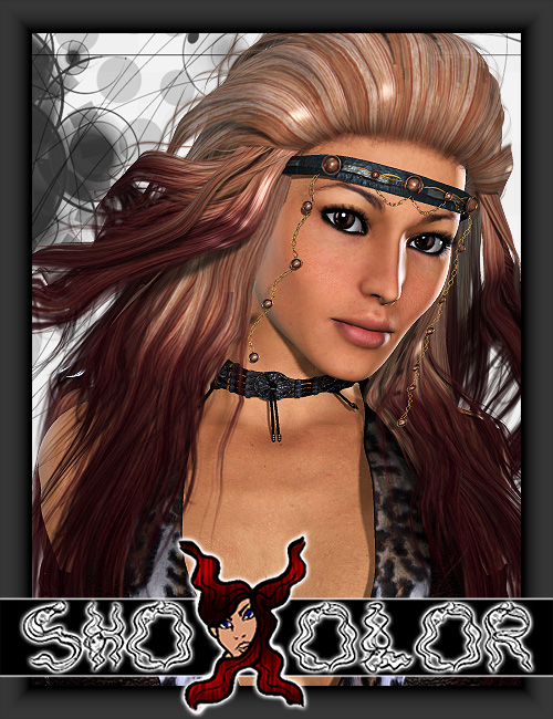 ShoXoloR for Winona Hair by: Shox-Design, 3D Models by Daz 3D