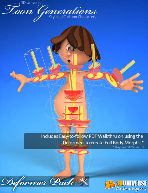 Toon Generations Deformer Pack (DS) by: 3D Universe, 3D Models by Daz 3D