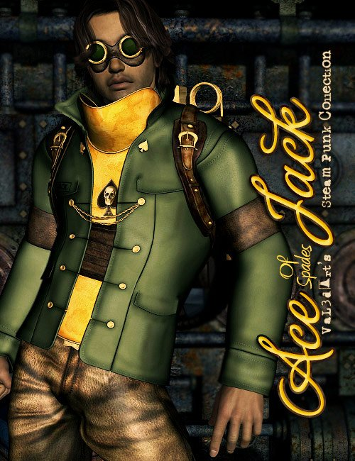Ace of Spades Jack by: LesthatVal3dart, 3D Models by Daz 3D