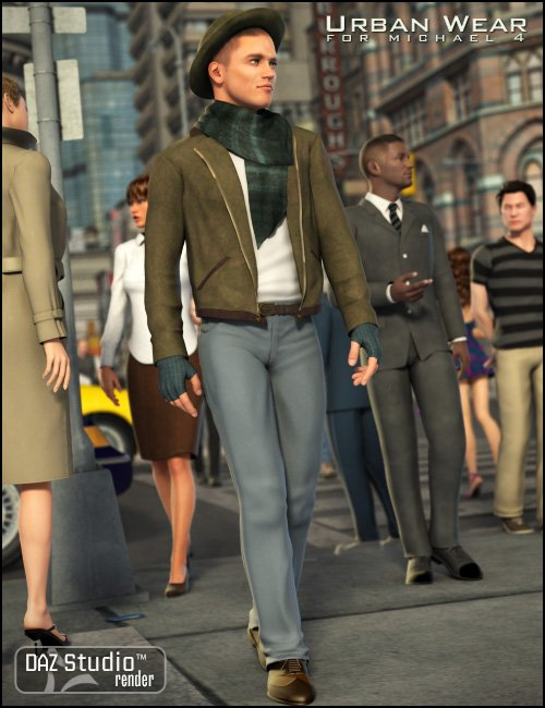 Urban Wear for M4 by: Ravenhair, 3D Models by Daz 3D