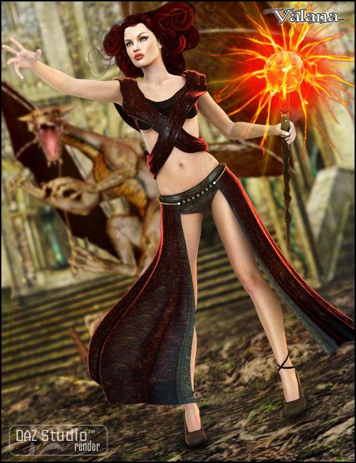 Valana Outfit by: PoisenedLilySarsa, 3D Models by Daz 3D