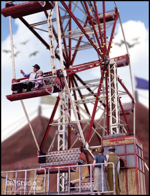 Ferris Wheel by: Sarsa, 3D Models by Daz 3D
