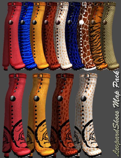 Leopard Shoes Map Pack by: dx30, 3D Models by Daz 3D