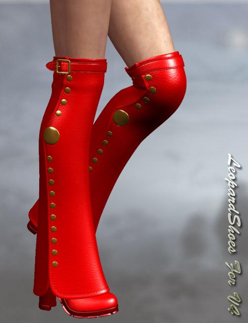 Leopard Shoes by: dx30, 3D Models by Daz 3D