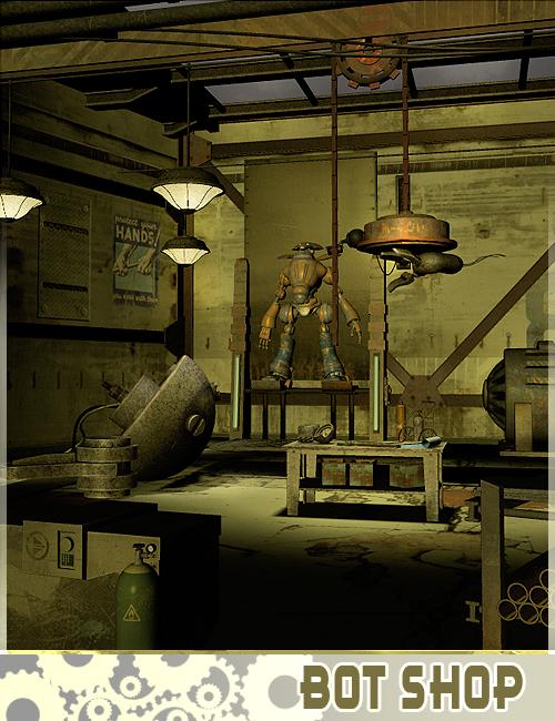 Bot Shop by: The AntFarm, 3D Models by Daz 3D