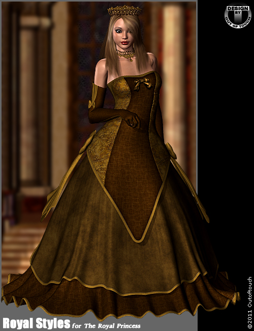 Royal Styles for Royal Princess by: outoftouch, 3D Models by Daz 3D