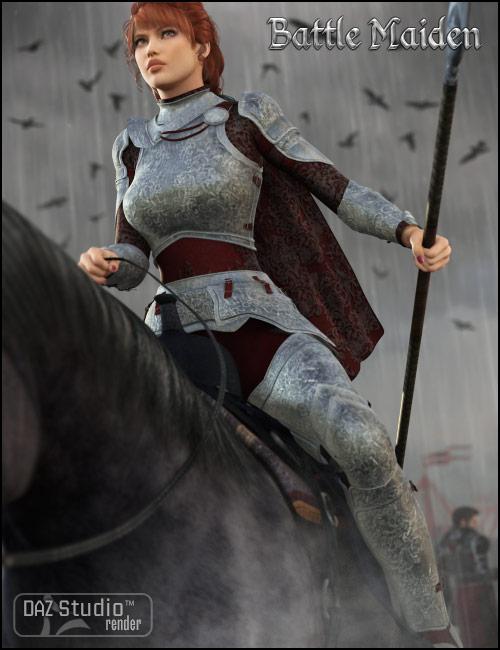 Battle Maiden by: Barbara Brundon, 3D Models by Daz 3D
