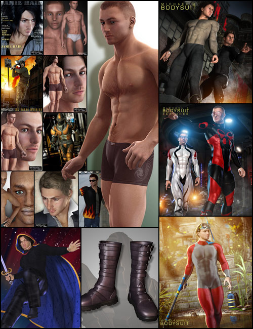 M4 Hero Pro Pack by: , 3D Models by Daz 3D