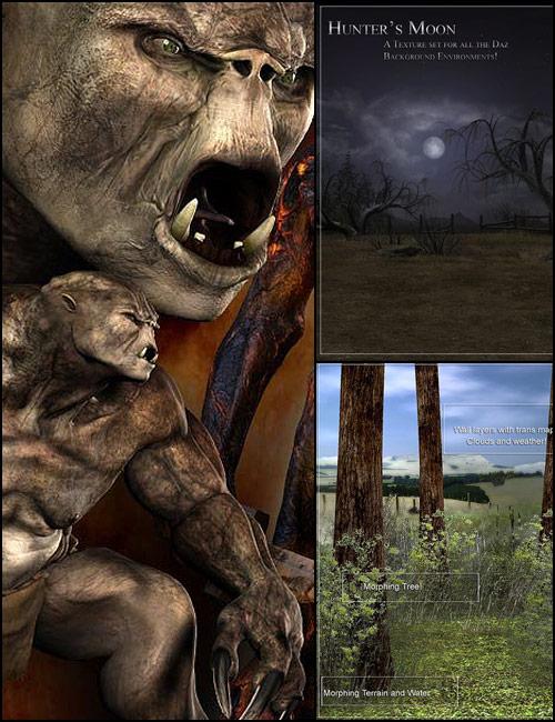 Troll Forest Bundle by: , 3D Models by Daz 3D