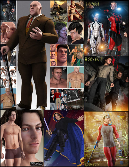 Freak Hero Pack by: , 3D Models by Daz 3D
