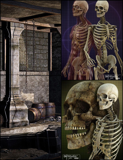 Skeleton Dungeon by: , 3D Models by Daz 3D