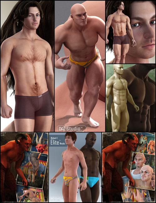 Super-Physical Male Bundle by: , 3D Models by Daz 3D