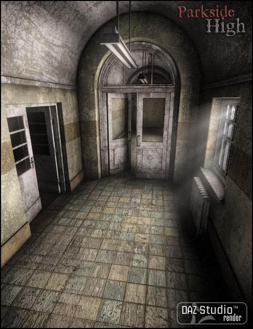 Parkside High Hallways by: Jack Tomalin, 3D Models by Daz 3D