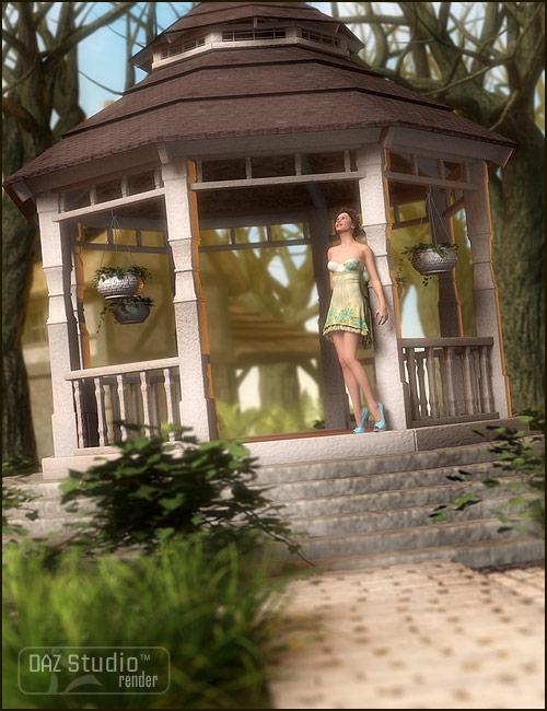 Summer Gazebo by: ARTCollab, 3D Models by Daz 3D