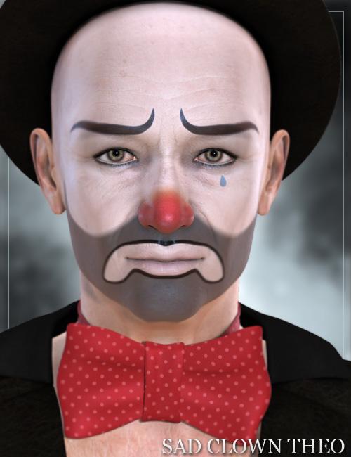 Sad Clown Theo by: Raiya, 3D Models by Daz 3D