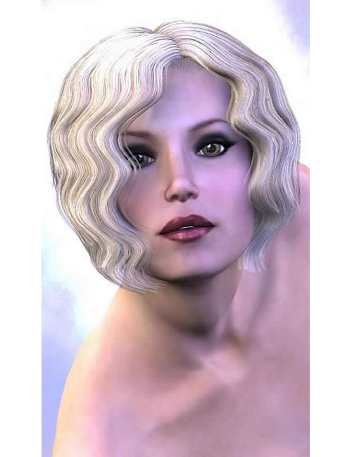 Razzle Dazzle: A V3 Historic Hairstyle by: , 3D Models by Daz 3D
