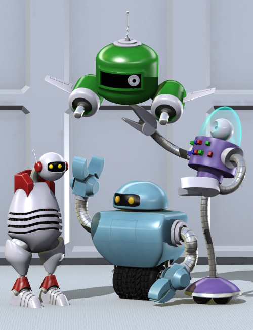 Robo Buds by: Valandar, 3D Models by Daz 3D