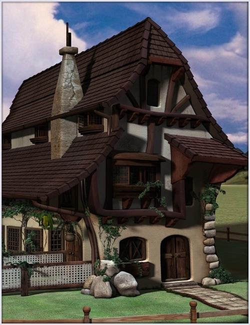 Fern Lea Cottage by: Magix 101, 3D Models by Daz 3D