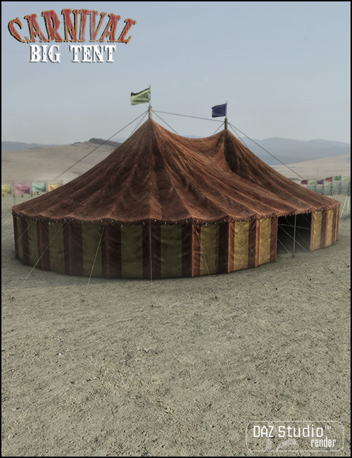 Carnival Big Tent by: Jack Tomalin, 3D Models by Daz 3D