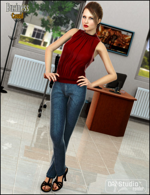 B25 Business Casual by: Barbara Brundon, 3D Models by Daz 3D
