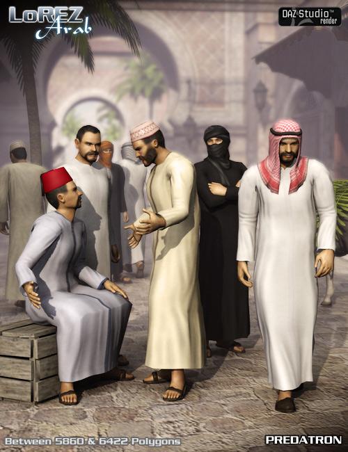 LoREZ Arab Male by: Predatron, 3D Models by Daz 3D
