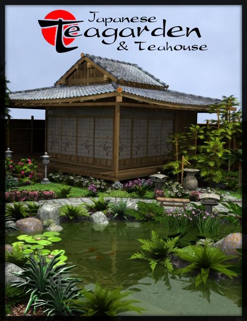 Japanese Tea Garden & Tea House bundle by: Merlin Studios, 3D Models by Daz 3D