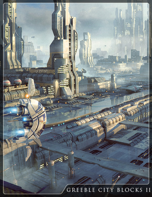 Greeble City Blocks 2 by: Stonemason, 3D Models by Daz 3D