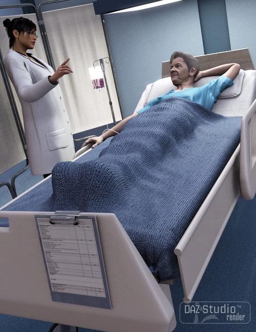 Hospital Bed by: Valandar, 3D Models by Daz 3D