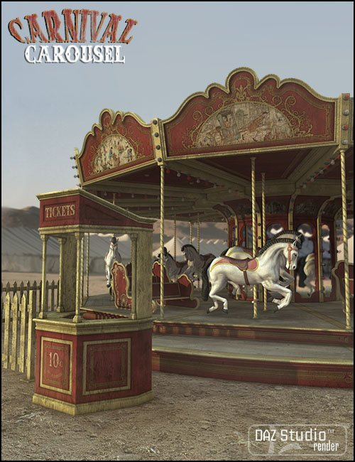 Carnival Carousel by: Jack Tomalin, 3D Models by Daz 3D