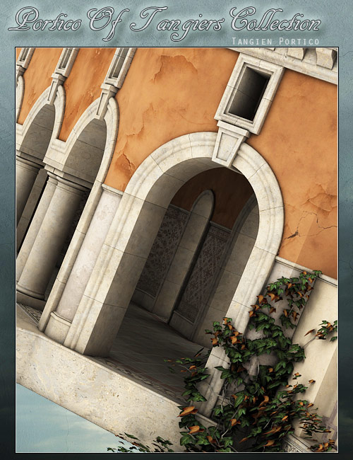 Tangien Portico by: FWDesignForbiddenWhispers, 3D Models by Daz 3D