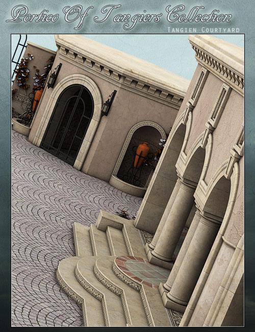 Tangien Courtyard by: ForbiddenWhispersFWDesign, 3D Models by Daz 3D