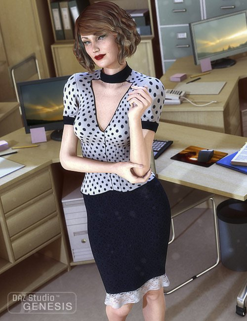 Womens Business Wear for Genesis by: Barbara BrundonSarsa, 3D Models by Daz 3D