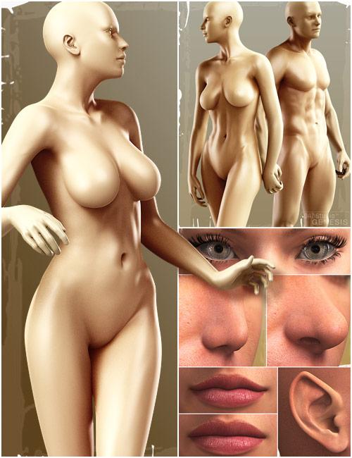 Genesis Evolution: Shapes Bundle by: , 3D Models by Daz 3D