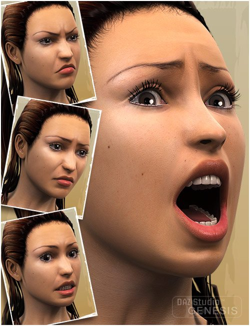 Genesis Evolution: Expressions by: , 3D Models by Daz 3D
