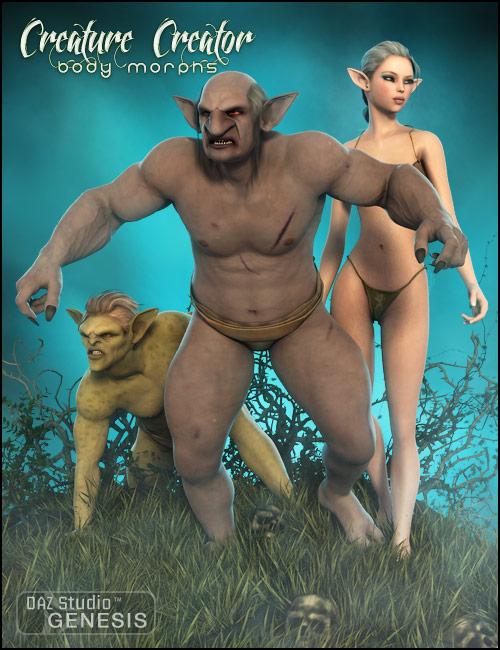 Genesis Creature Creator Bodies by: , 3D Models by Daz 3D