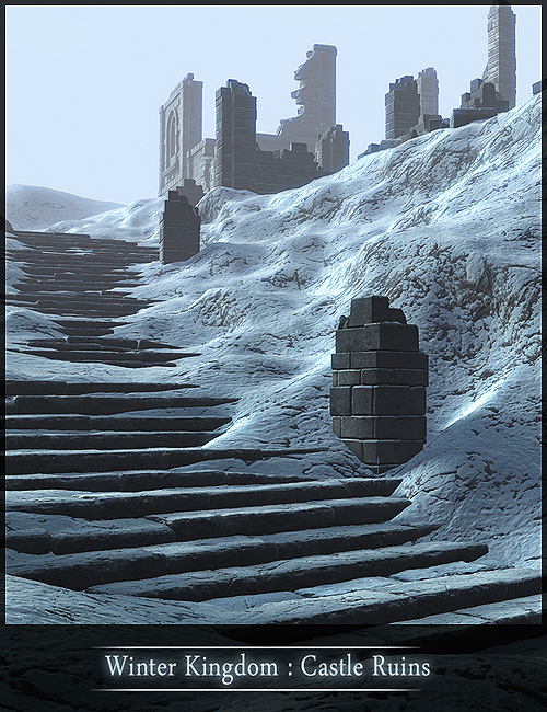 Winter Kingdom: Castle Ruins by: Stonemason, 3D Models by Daz 3D