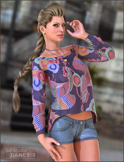 Aussie Girl Outfit by: MadaThorne, 3D Models by Daz 3D