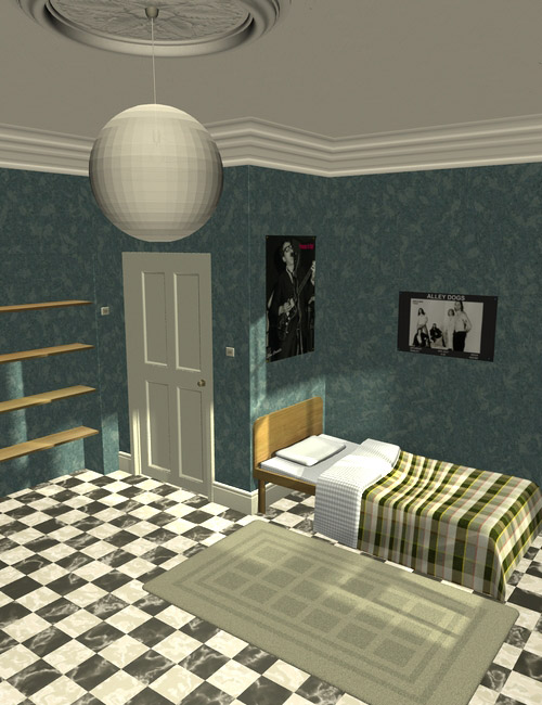 Interiors The Bedsit by: maclean, 3D Models by Daz 3D