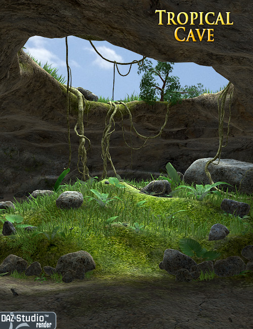 Tropical Cave by: Andrey Pestryakov, 3D Models by Daz 3D
