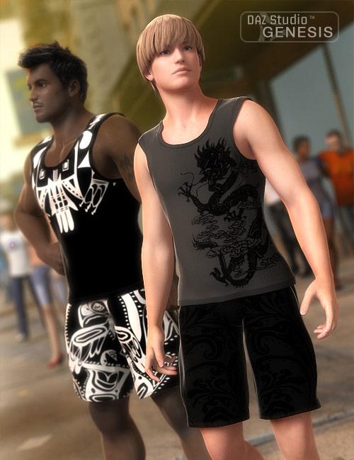 Summerwear For Genesis by: RavnheartBarbara Brundon, 3D Models by Daz 3D