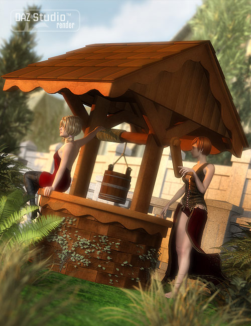 Garden Escape Well by: ARTCollab, 3D Models by Daz 3D