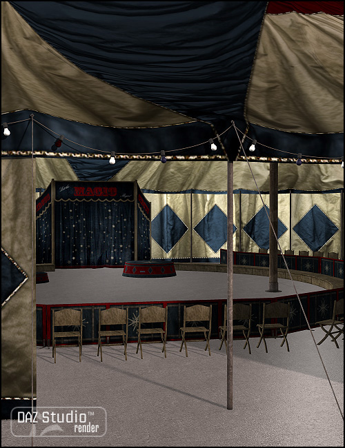 Magic for Carnival Tent and Interior by: Sarsa, 3D Models by Daz 3D