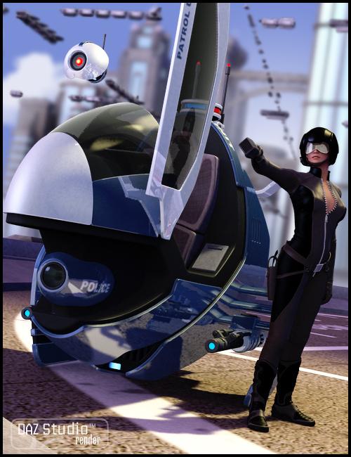 Interceptor Hover Bike by: , 3D Models by Daz 3D