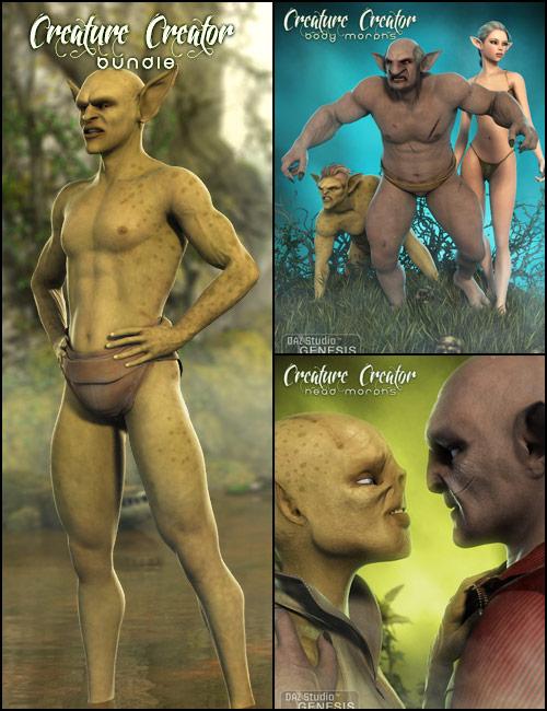 Genesis Creature Creator Bundle by: , 3D Models by Daz 3D