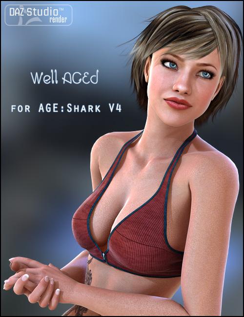 Well AGEd Shark V4 by: bucketload3d, 3D Models by Daz 3D