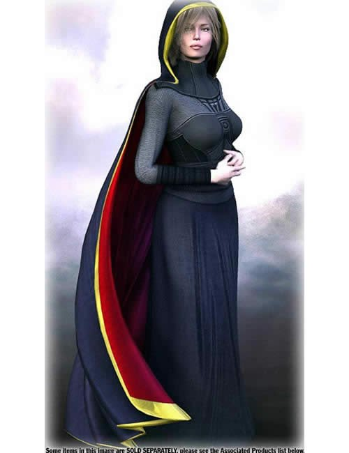 V3 Hooded Cloak One by: , 3D Models by Daz 3D